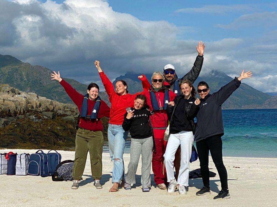 La famille royale de Norvège dans les îles Lofoten en août 2020