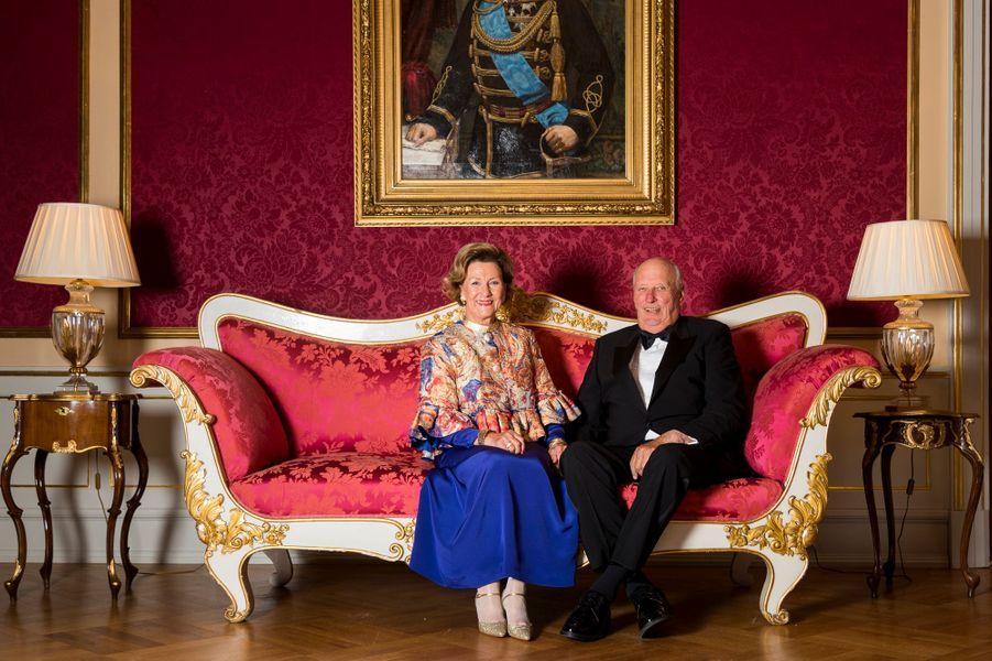 La reine Sonja et le roi Harald V de Norvège à Oslo, le 29 août 2018