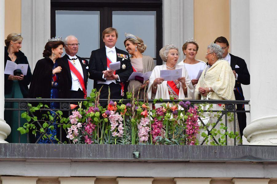 La comtesse Sophie de Wessex, le roi Carl XVI Gustaf et la reine Silvia de Suède, la famille royale des Pays-Bas et la princesse Astrid de Norvège