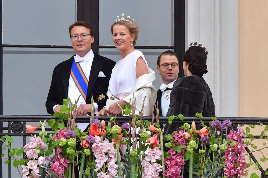 Le prince Constantijn et la princesse Mabel des Pays-Bas, la princesse Sofia et le prince Daniel de Suède