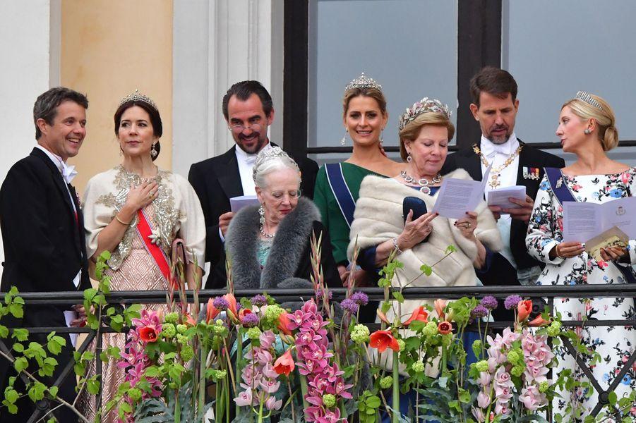 Les familles royales de Danemark et de Grèce