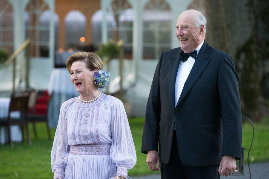 La reine Sonja et le roi Harald V de Norvège à Oslo, le 4 juillet 2017