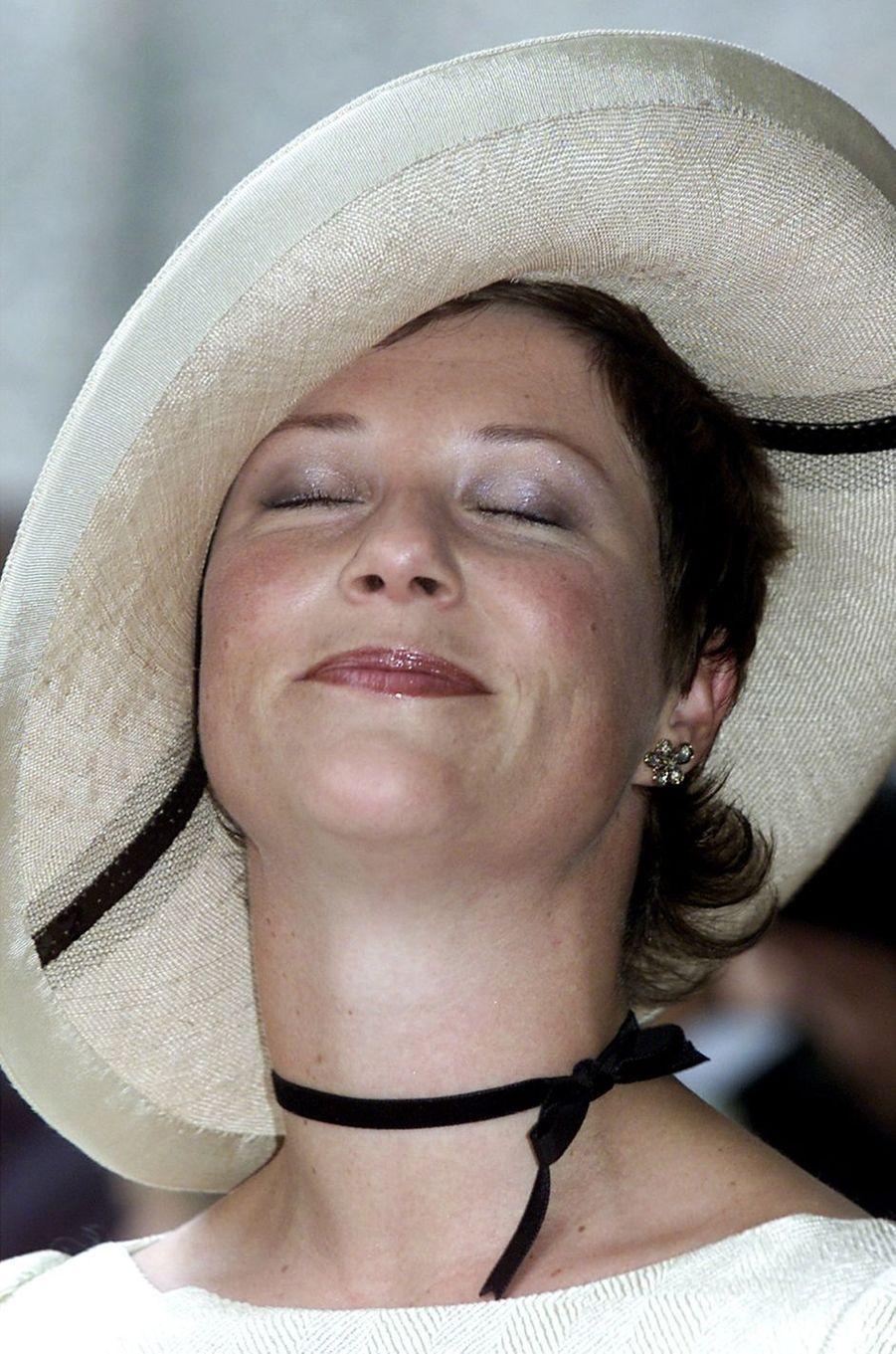 La princesse Märtha Louise de Norvège, le 25 août 2001
