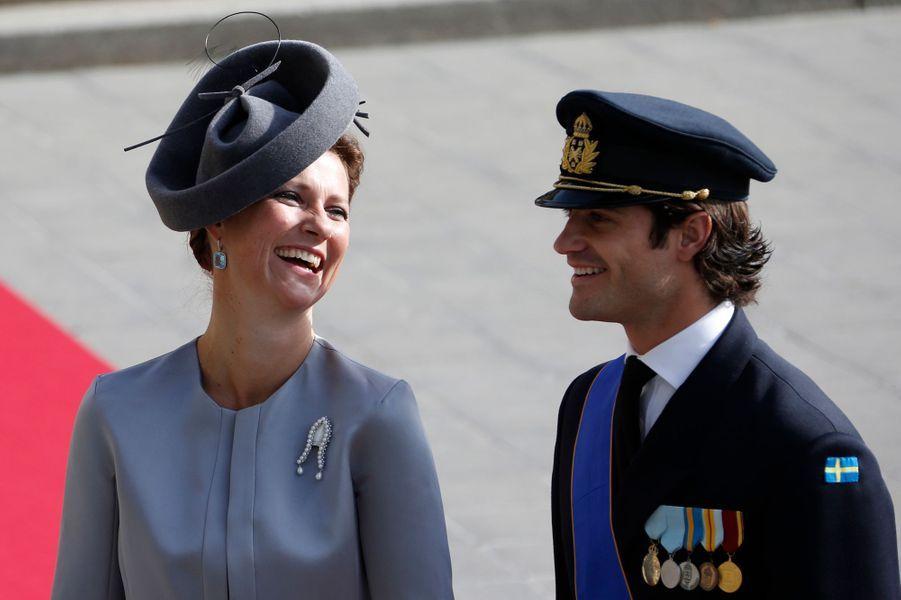 La princesse Märtha Louise de Norvège avec le prince Carl Philip de Suède, le 20 octobre 2012