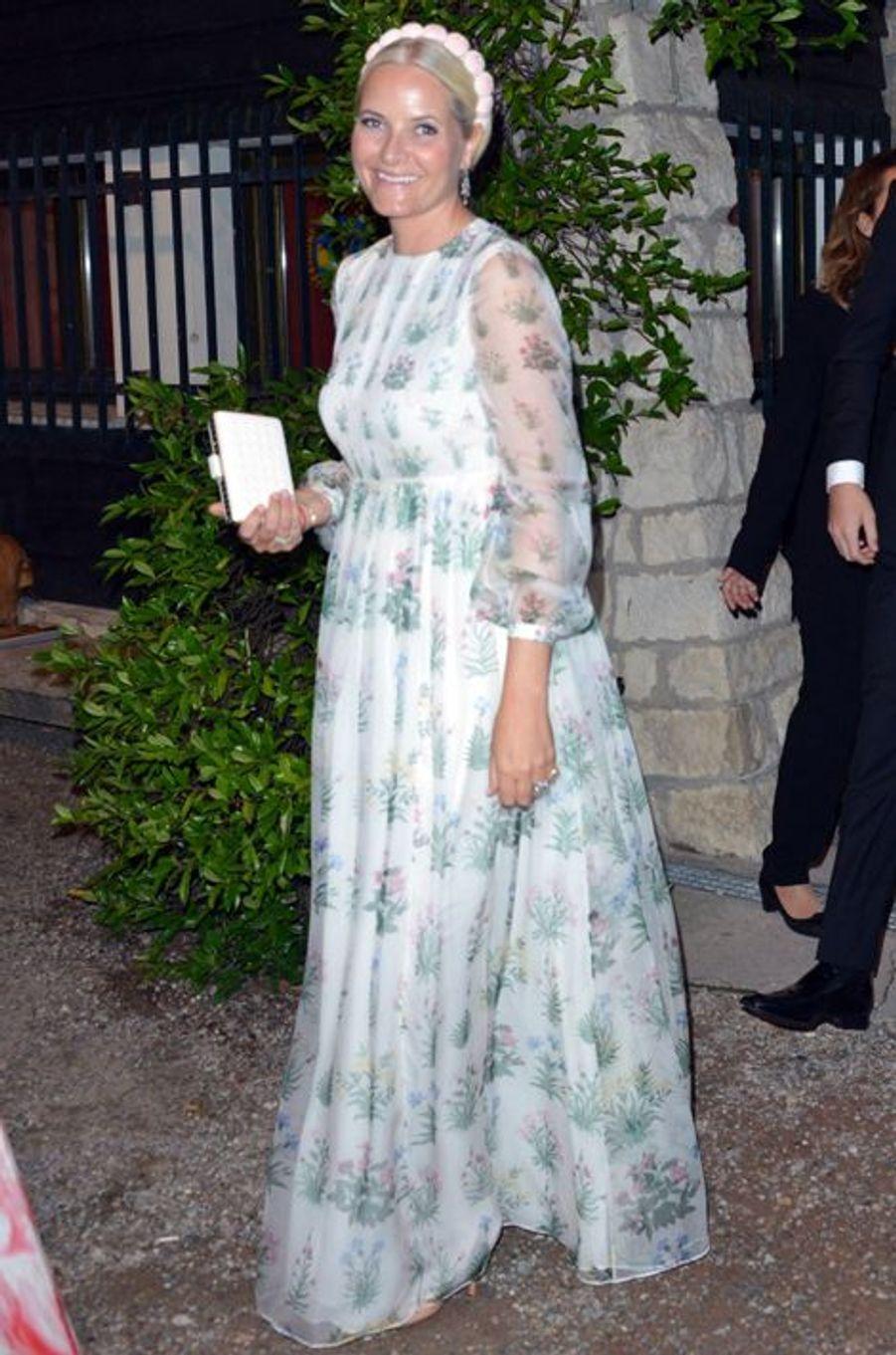 La princesse Mette-Marit de Norvège à Angera, le 1er août 2015