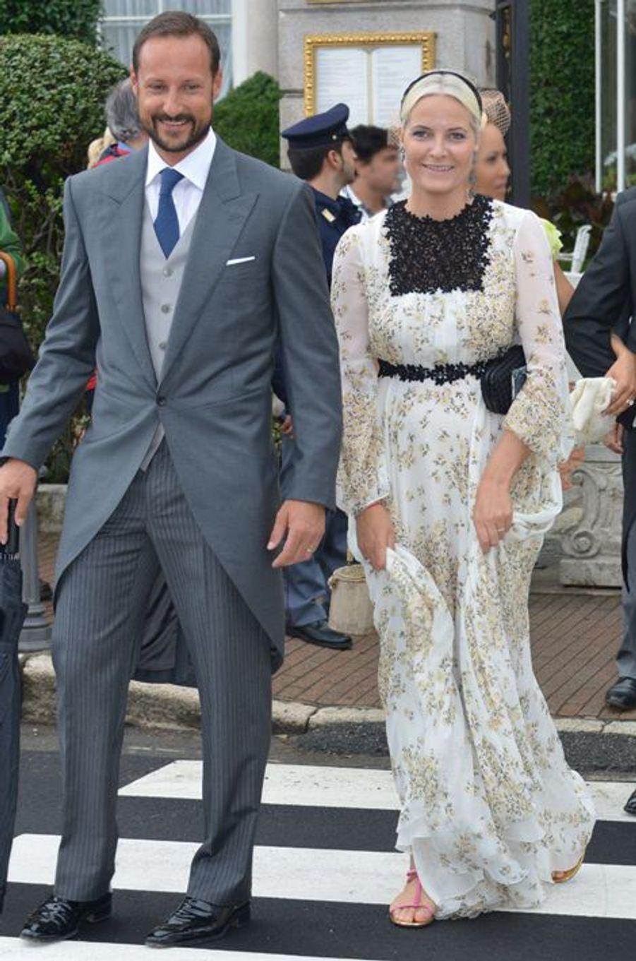 La princesse Mette-Marit et le prince Haakon de Norvège à Stresa, le 1er août 2015