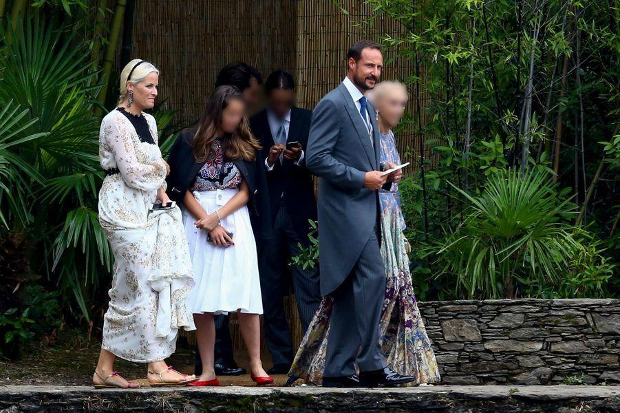 La princesse Mette-Marit et le prince Haakon de Norvège sur l'île San Giovanni, le 1er août 2015
