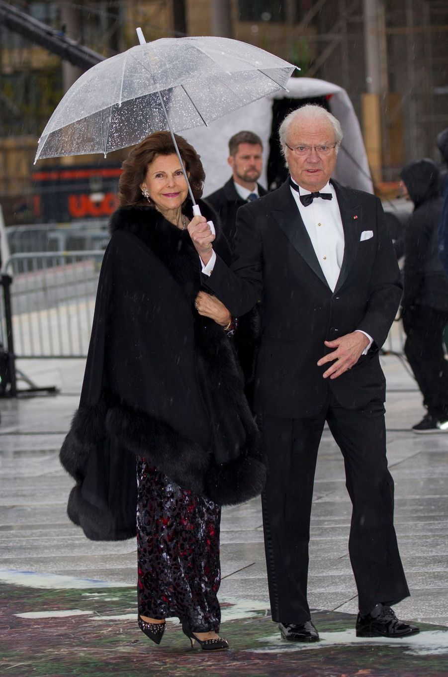 La reine Silvia et le roi Carl XVI Gustaf de Suède à Oslo, le 10 mai 2017