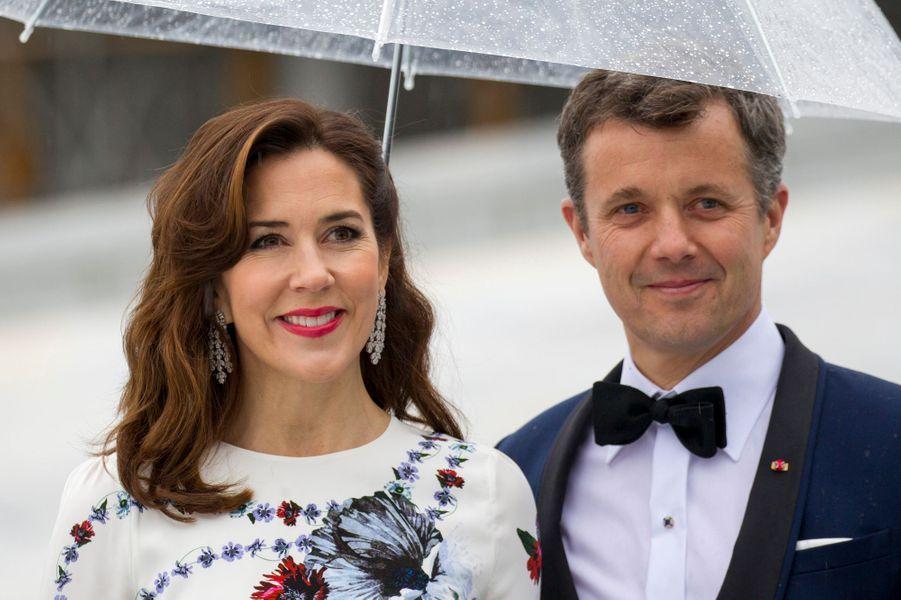 La princesse Mary et le prince Frederik de Danemark à Oslo, le 10 mai 2017