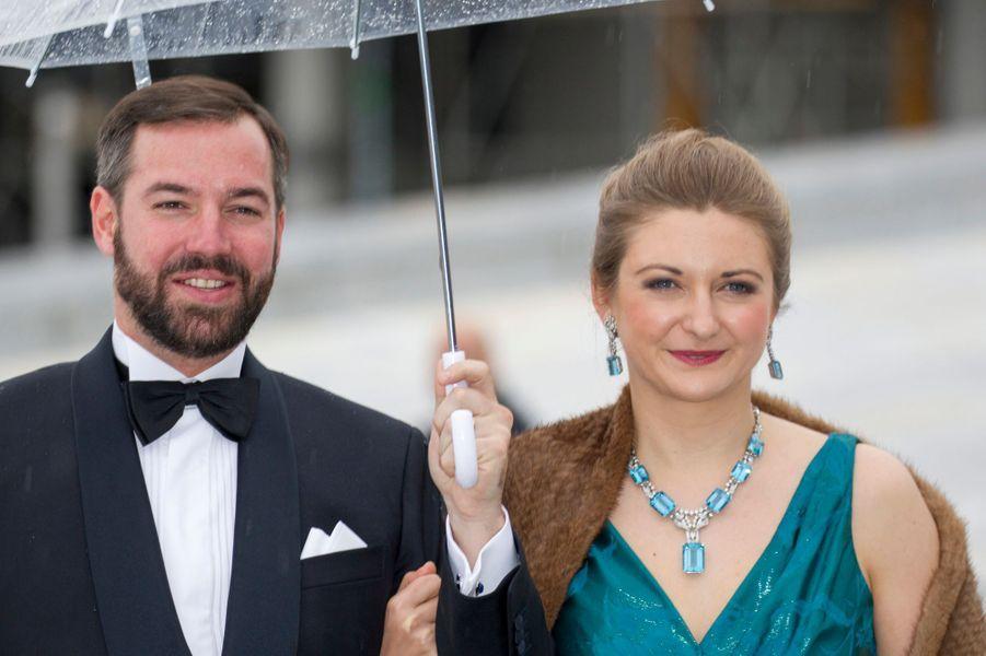 La princesse Stéphanie et le prince Guillaume de Luxembourg à Oslo, le 10 mai 2017