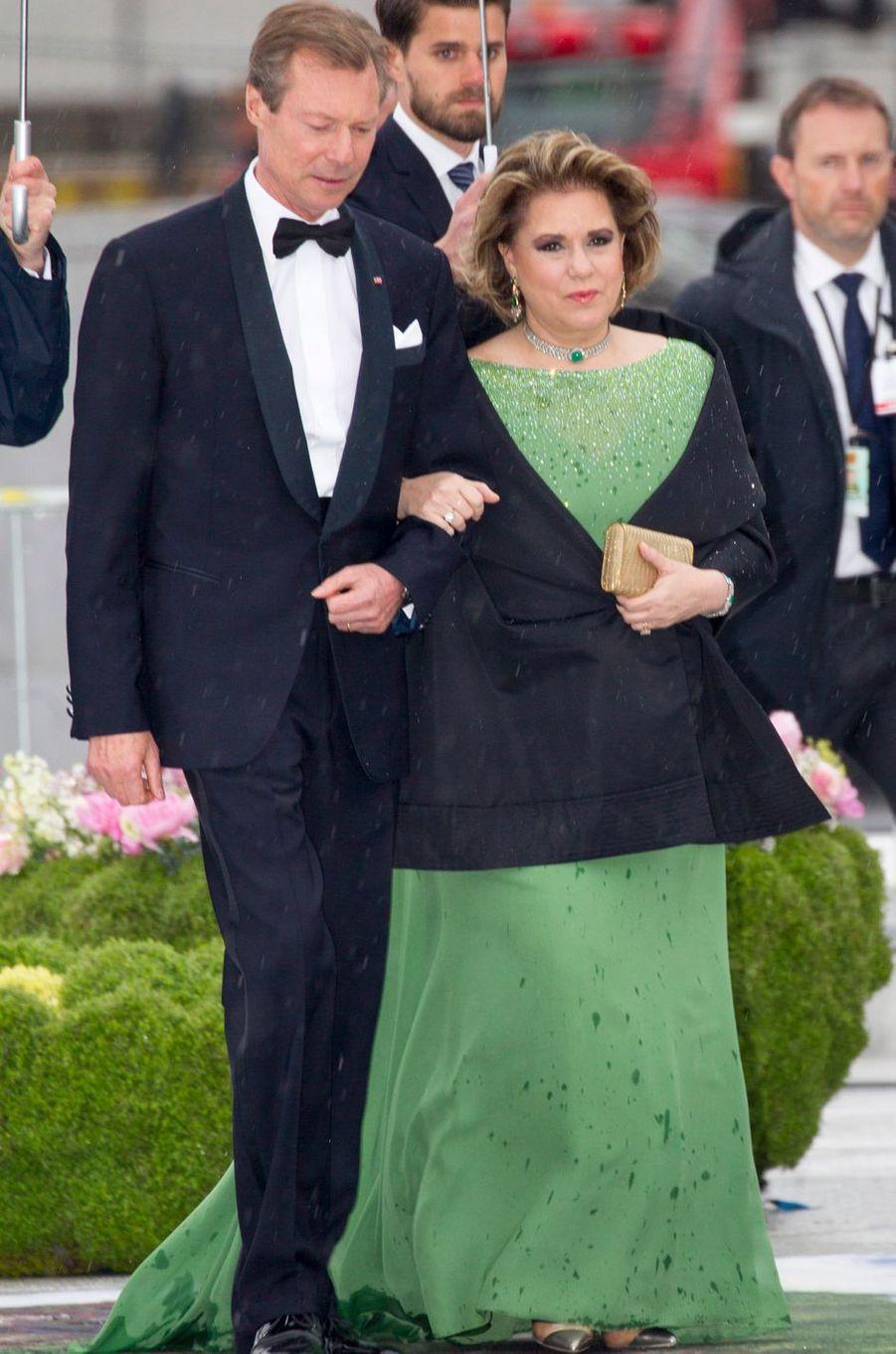 Le grand-duc Henri et la grande-duchesse Maria Teresa de Luxembourg à Oslo, le 10 mai 2017
