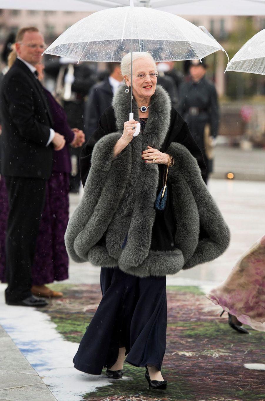 La reine Margrethe II de Danemark à Oslo, le 10 mai 2017