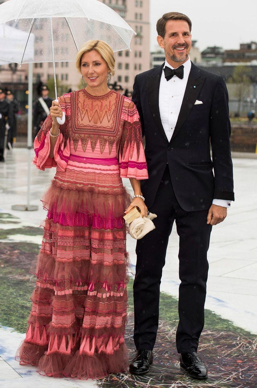 La princesse Marie-Chantal et le prince Pavlos de Grèce à Oslo, le 10 mai 2017