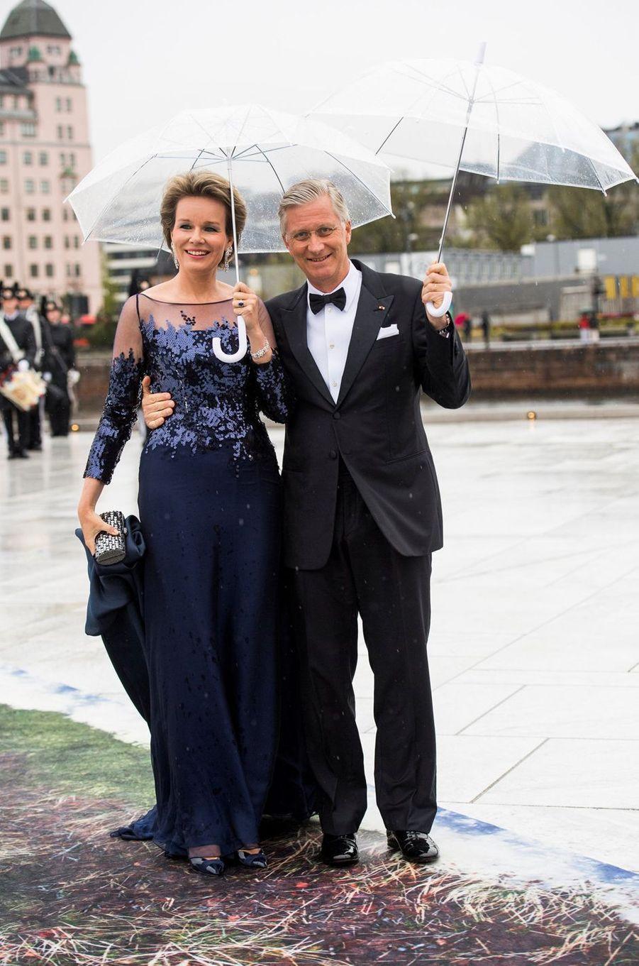 La reine Mathilde et le roi Philippe de Belgique à Oslo, le 10 mai 2017