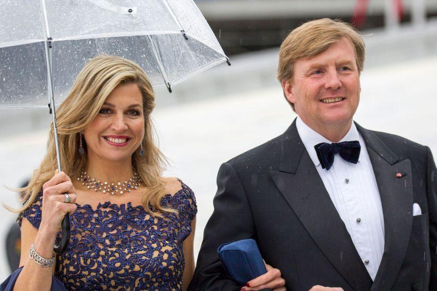 La reine Maxima et le roi Willem-Alexander des Pays-Bas à Oslo, le 10 mai 2017
