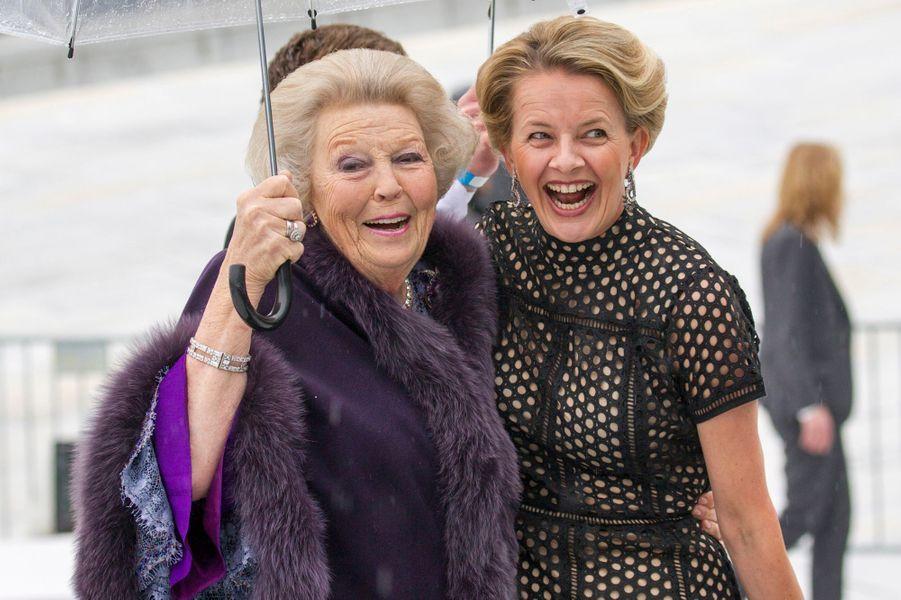 Les princesses Beatrix et Mabel des Pays-Bas à Oslo, le 10 mai 2017