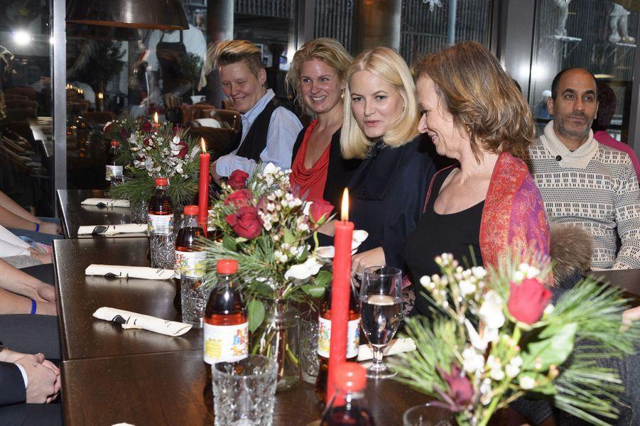 La princesse Mette-Marit de Norvège, le 24 décembre 2017 à Oslo
