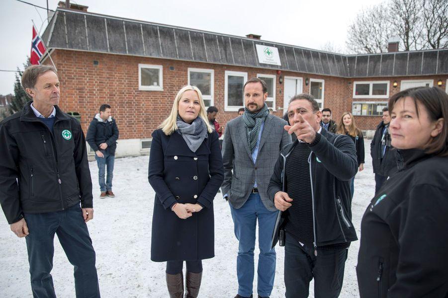 La princesse Mette-Marit et le prince Haakon de Norvège à Oslo le 15février 2017