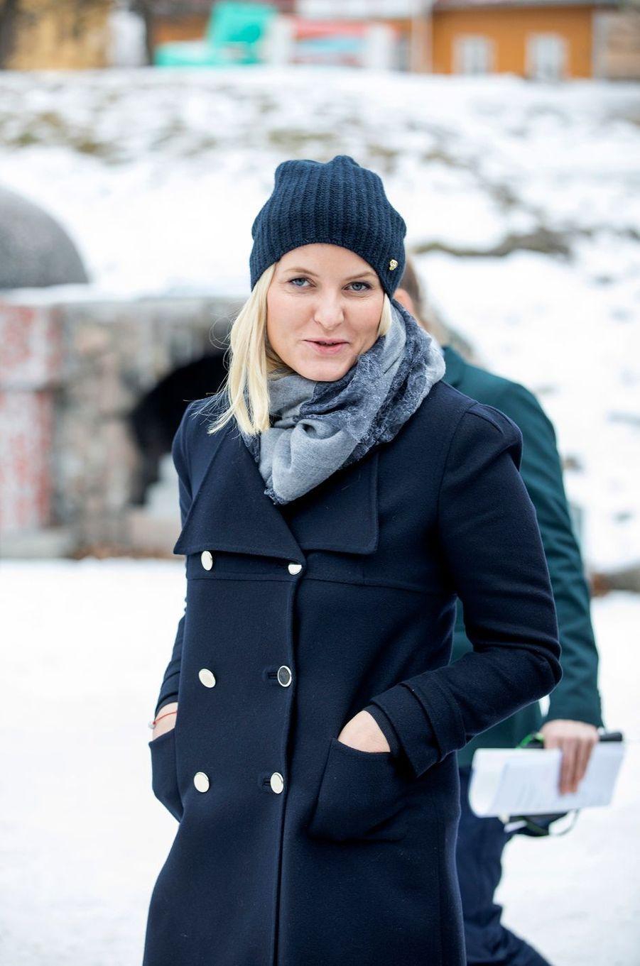 La princesse Mette-Marit de Norvège à Oslo le 15février 2017