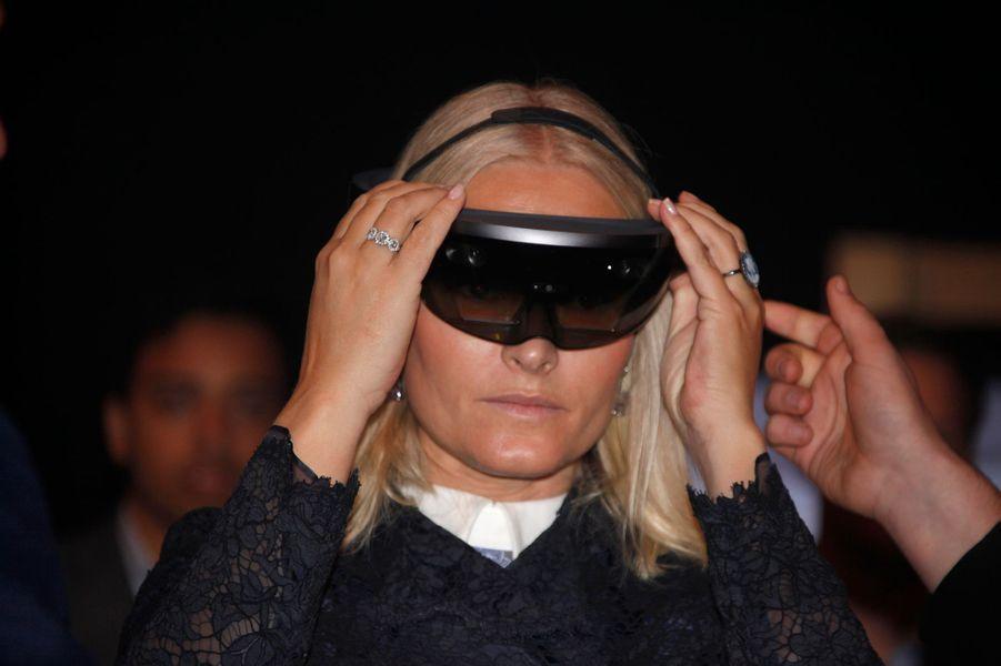 La princesse Mette-Marit de Norvège au lancement de la Semaine de l'innovation à Oslo, le 17 octobre 2016