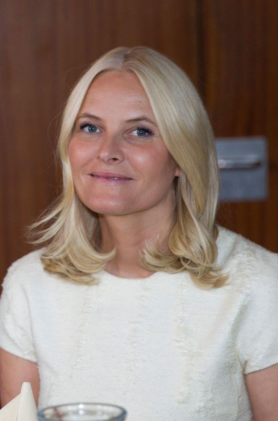 La princesse Mette-Marit de Norvège à Kirkwall, le 16 juin 2017