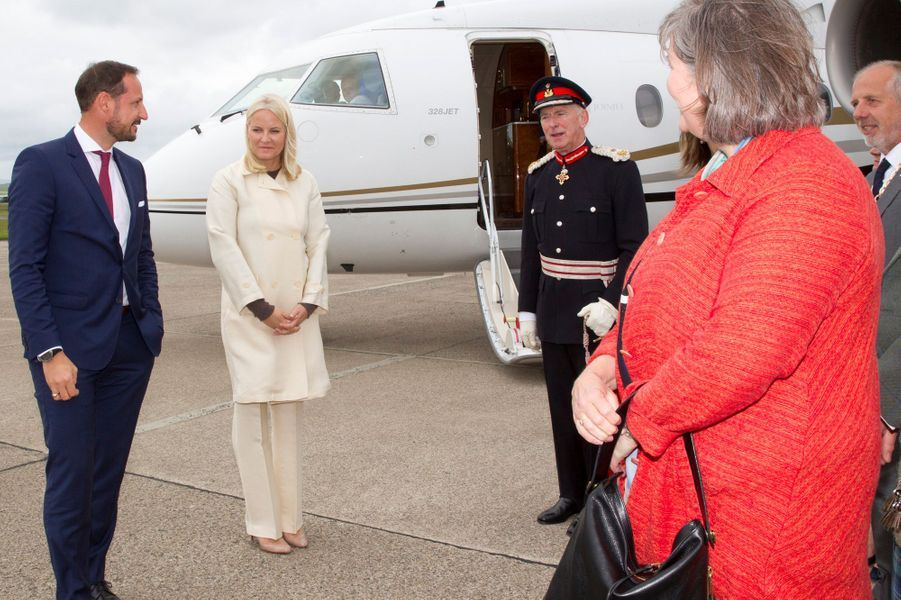 La princesse Mette-Marit et le prince Haakon de Norvège à Kirkwall aux Orcades, le 16 juin 2017