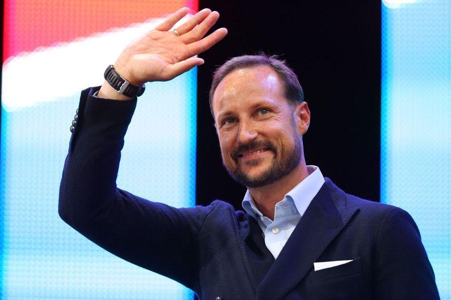 Le prince Haakon de Norvège à Bergen, le 24 septembre 2017