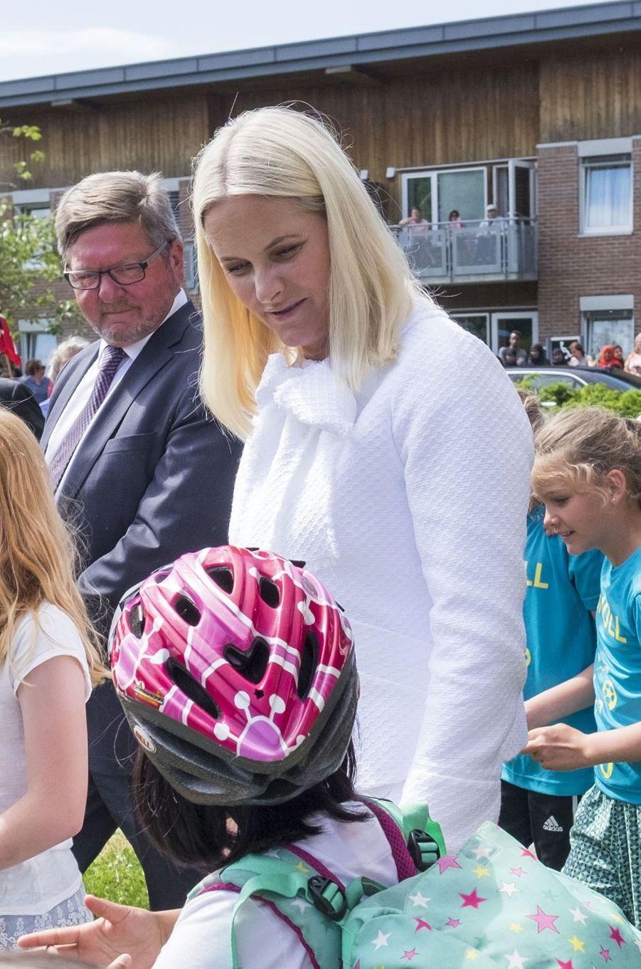 La princesse Mette-Marit de Norvège à Glimsdal, le 6 juin 2016