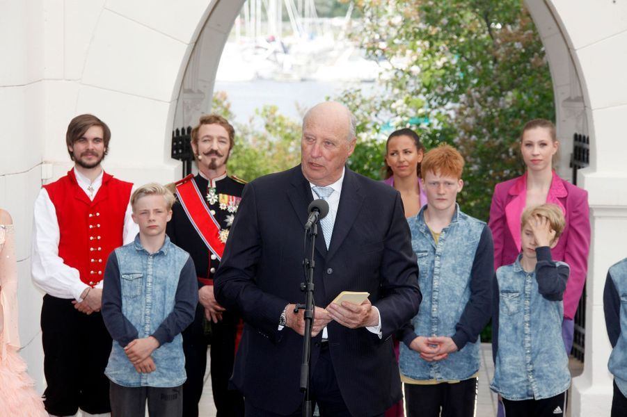 Le roi Harald V de Norvège à Oslo, le 7 juin 2016