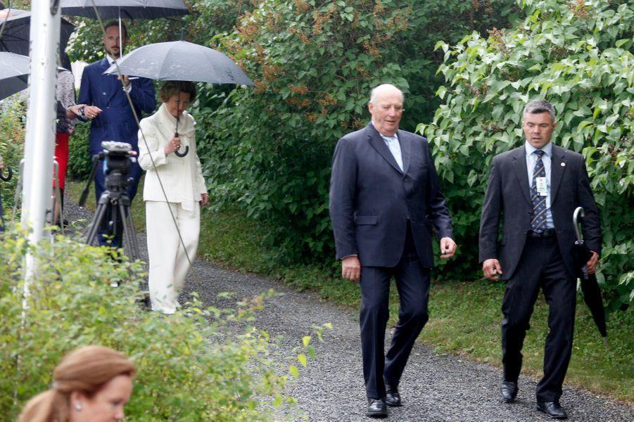 Le roi Harald V et la reine Sonja de Norvège à Oslo, le 7 juin 2016