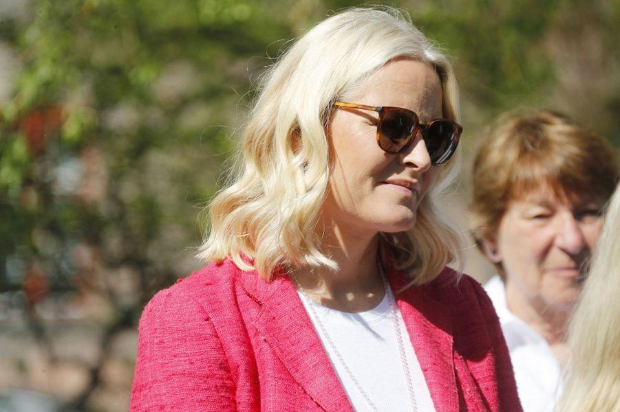 La princesse Mette-Marit de Norvège à Oslo, le 14 mai 2018