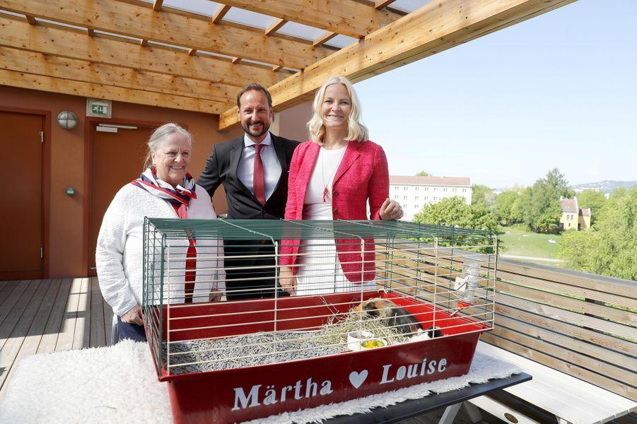 La princesse Mette-Marit et le prince Haakon de Norvège, le 14 mai 2018 à Oslo