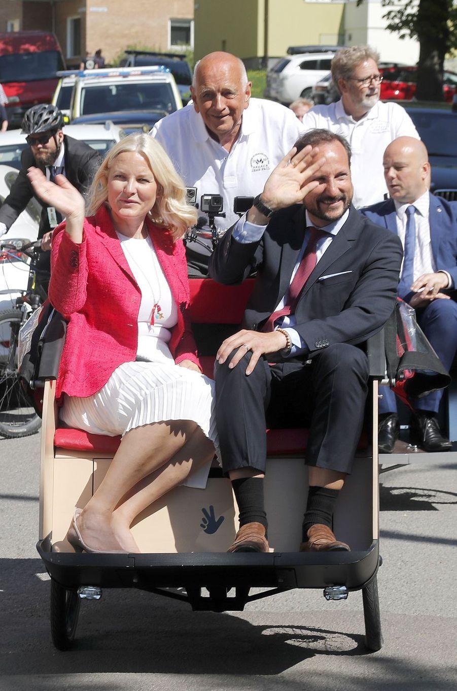 La princesse Mette-Marit et le prince Haakon de Norvège à Oslo, le 14 mai 2018