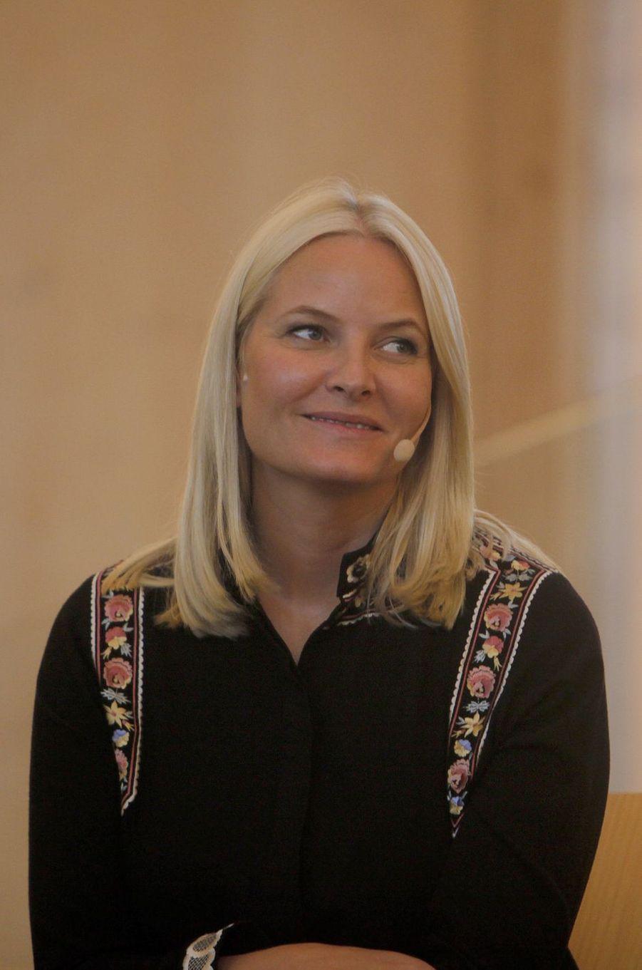 La princesse Mette-Marit de Norvège, dans le sud du pays, le 9 juin 2017