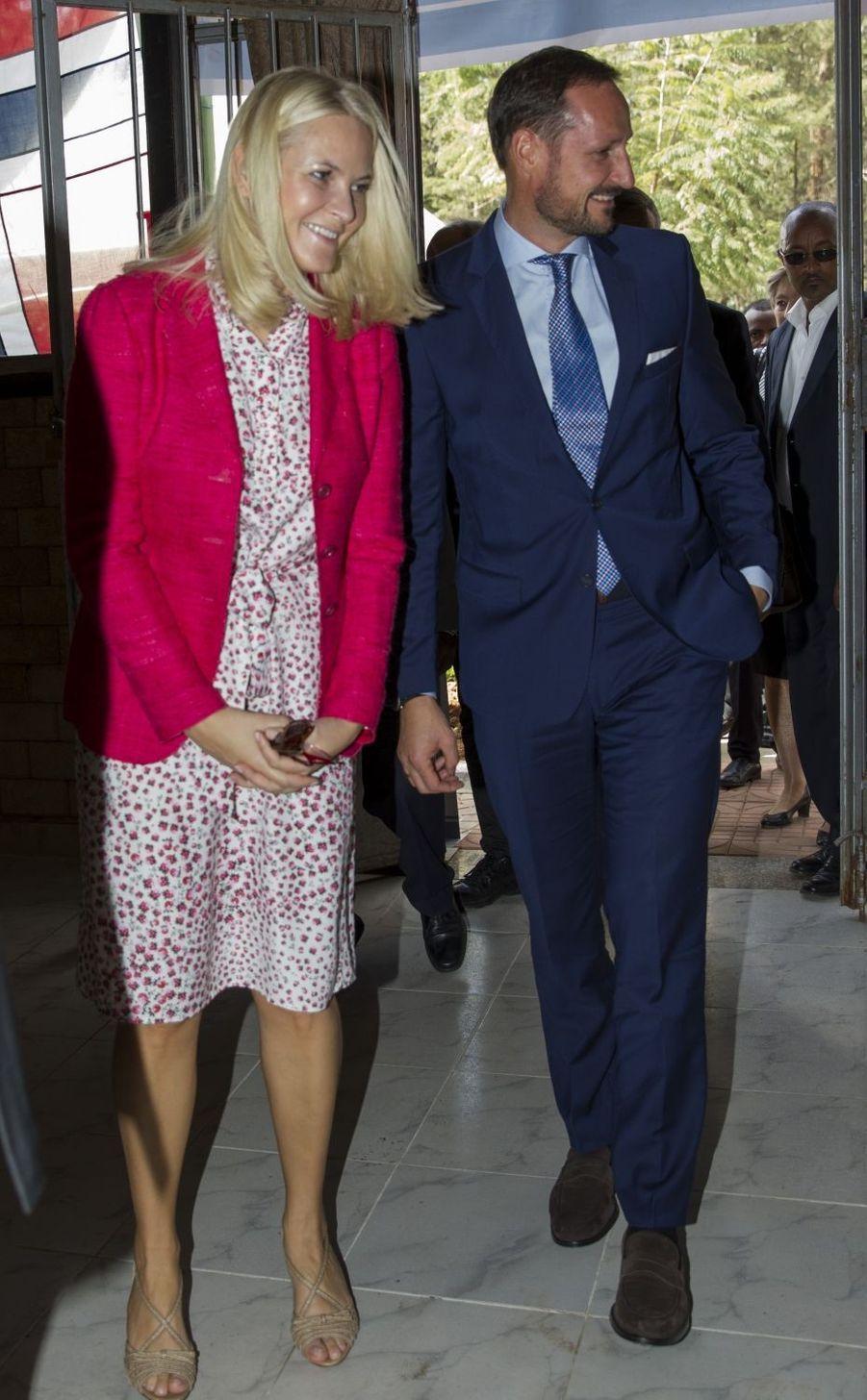 La princesse Mette-Marit et le prince Haakon de Norvège à Addis-Abeba en Ethiopie, le 8 novembre 2017
