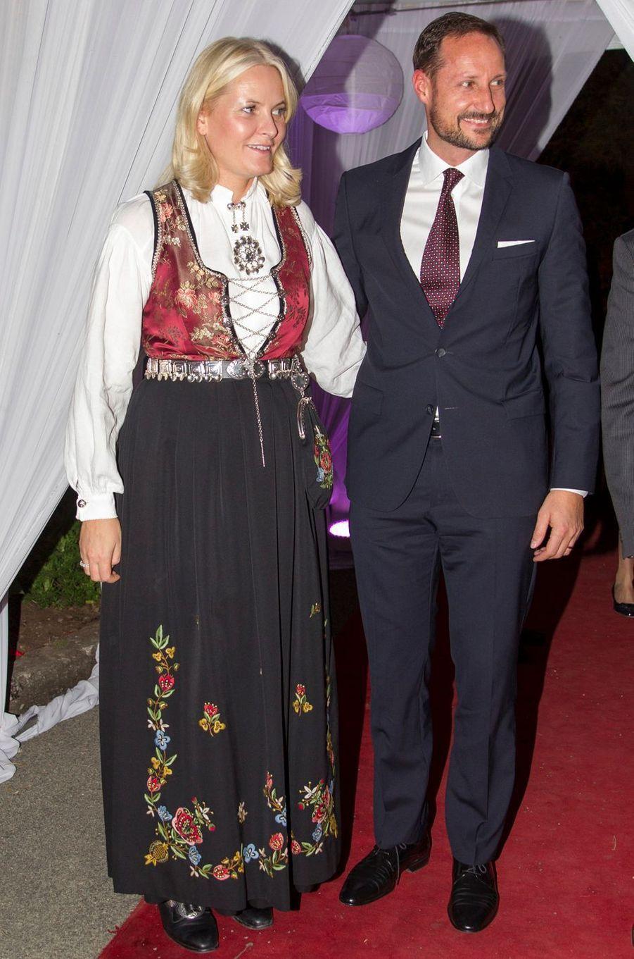 La princesse Mette-Marit et le prince Haakon de Norvège à Addis-Abeba, le 8 novembre 2017
