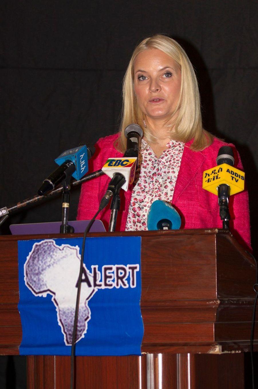 La princesse Mette-Marit de Norvège à Addis-Abeba, le 8 novembre 2017