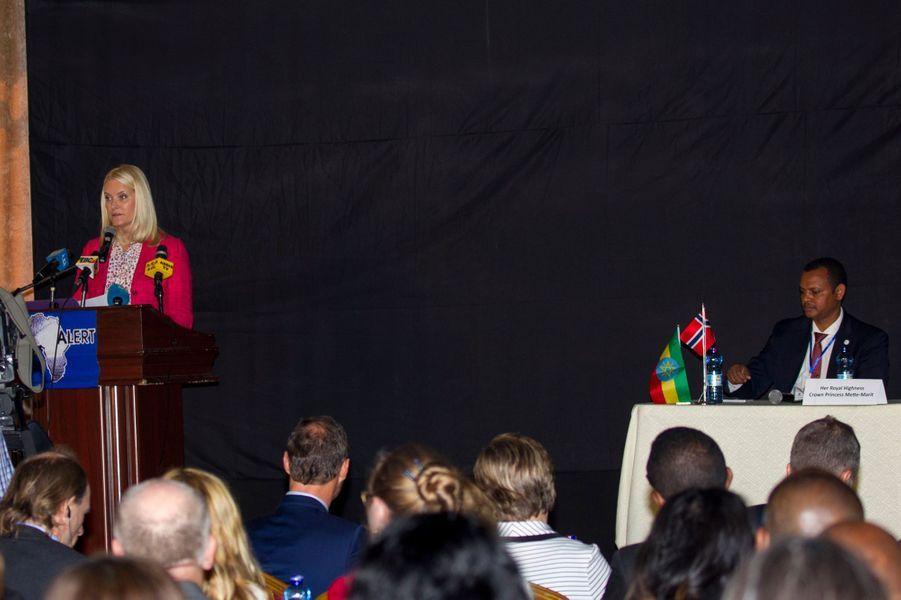 La princesse Mette-Marit de Norvège ouvre une conférence à Addis-Abeba, le 8 novembre 2017