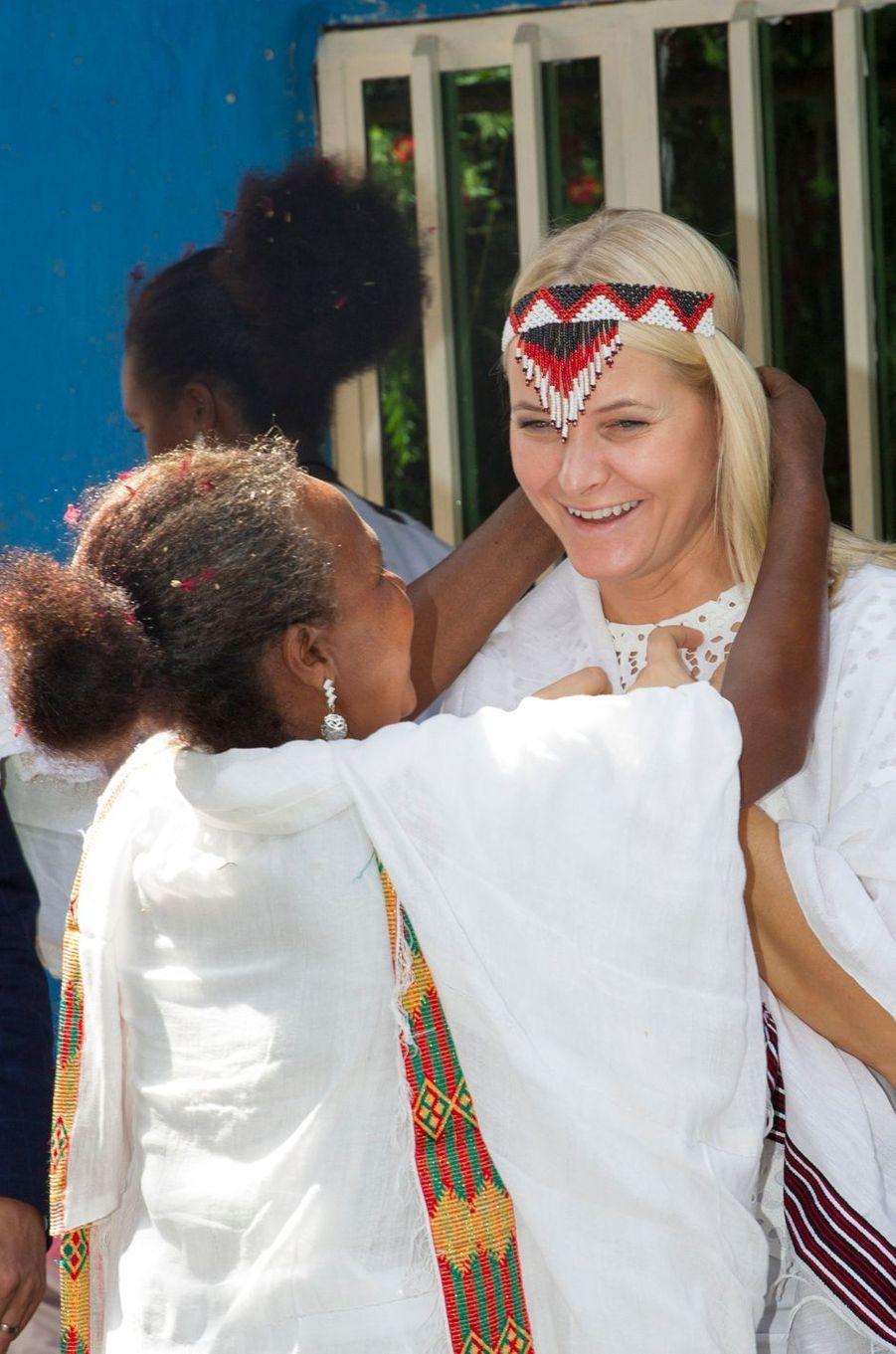 La princesse Mette-Marit de Norvège dans la région d'Oromia, le 8 novembre 2017
