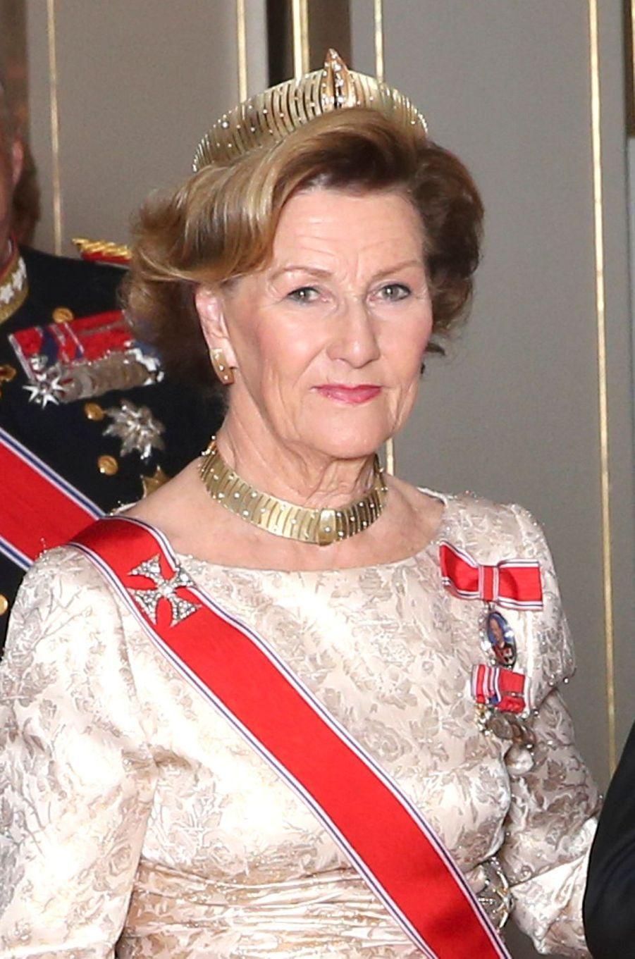 La reine Sonja de Norvège à Oslo, le 10 octobre 2016