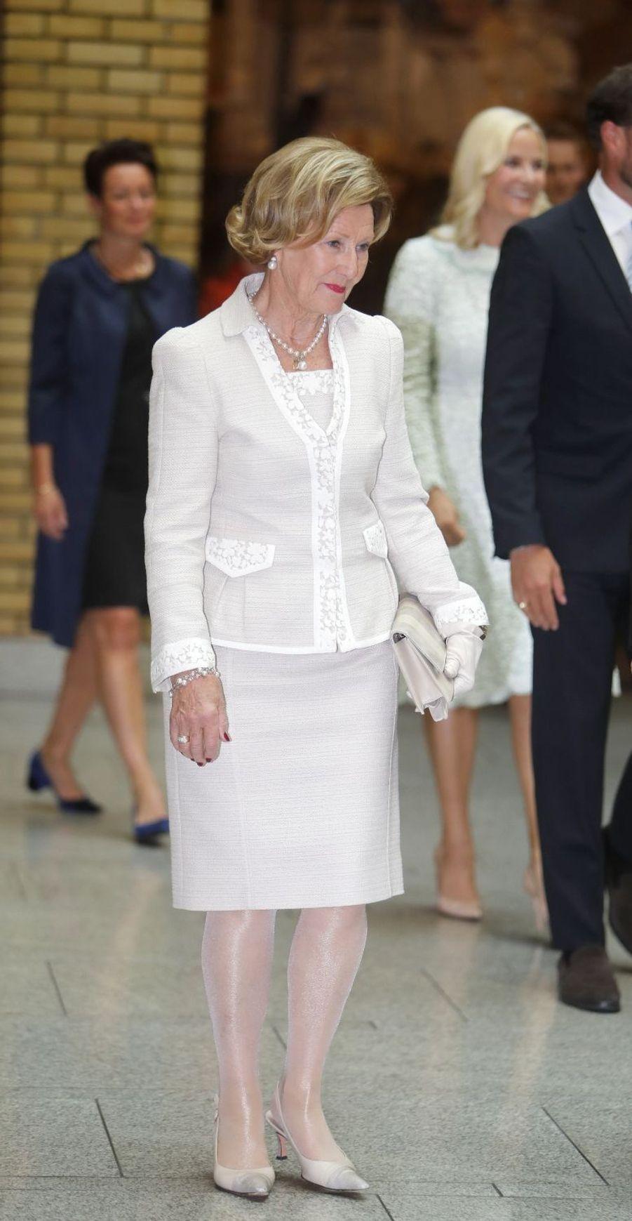 La reine Sonja de Norvège à Oslo, le 18 septembre 2017