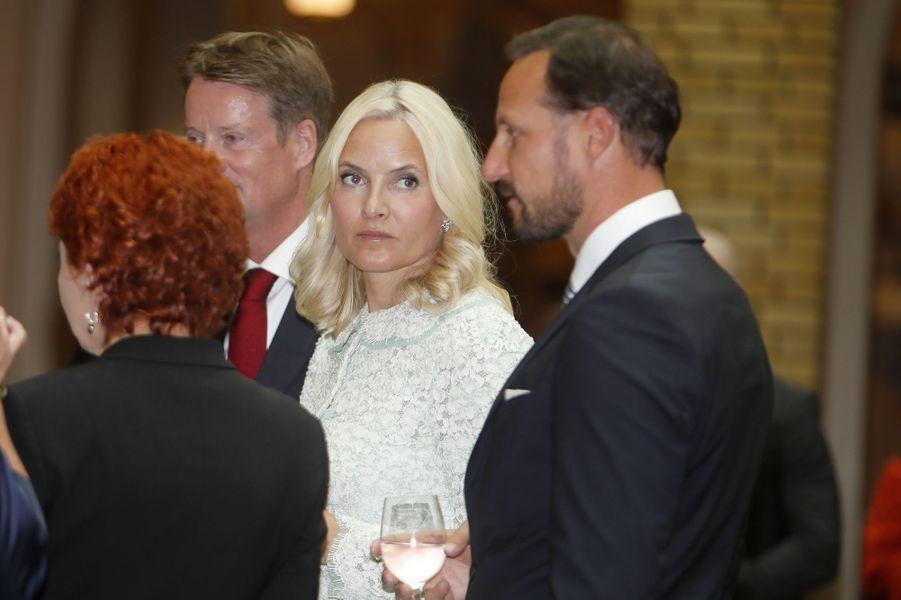 La princesse Mette-Marit et le prince Haakon de Norvège à Oslo, le 18 septembre 2017