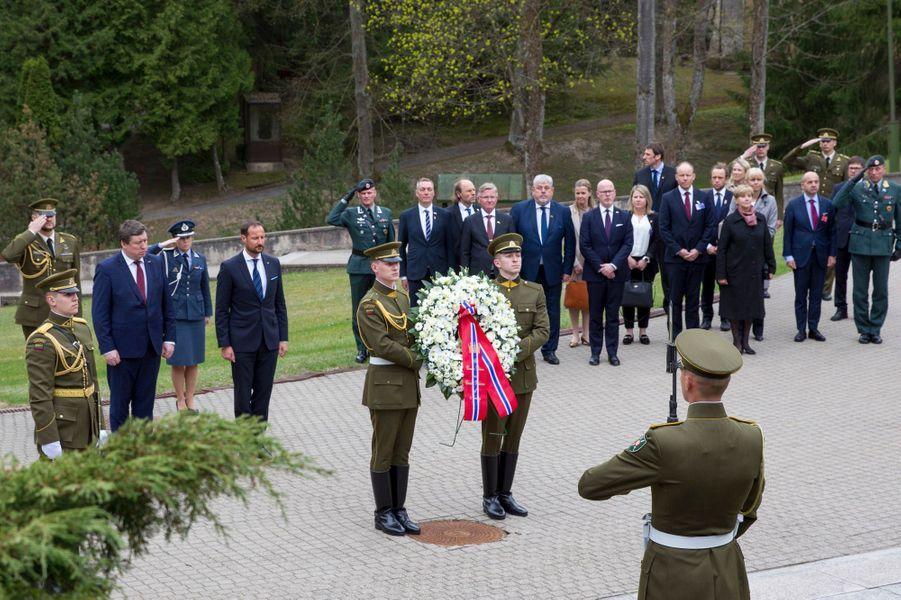 Le prince Haakon de Norvège à Vilnius, le 24 avril 2018