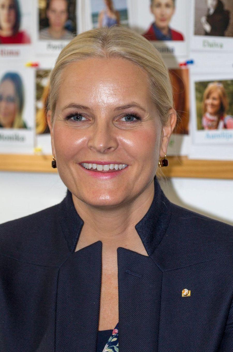 La princesse Mette-Marit de Norvège à Vilnius, le 24 avril 2018