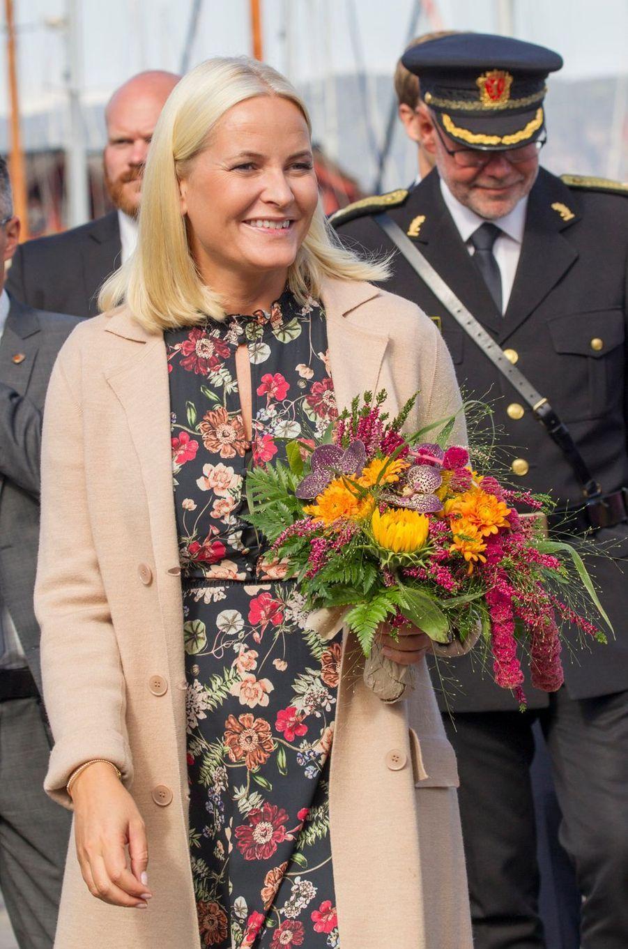 La princesse Mette-Marit de Norvège à Svelvik, le 4 septembre 2018