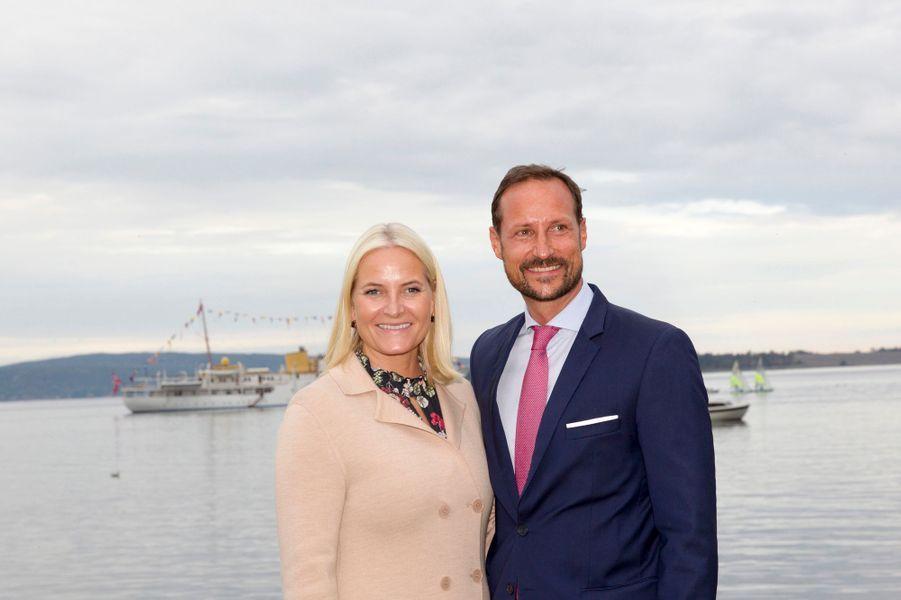 La princesse Mette-Marit et le prince Haakon de Norvège à Holmestrand, le 4 septembre 2018