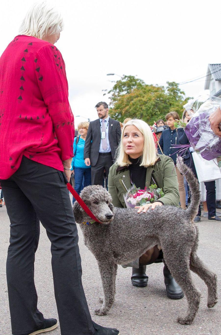 La princesse Mette-Marit de Norvège à Asgardstrand, le 5 septembre 2018
