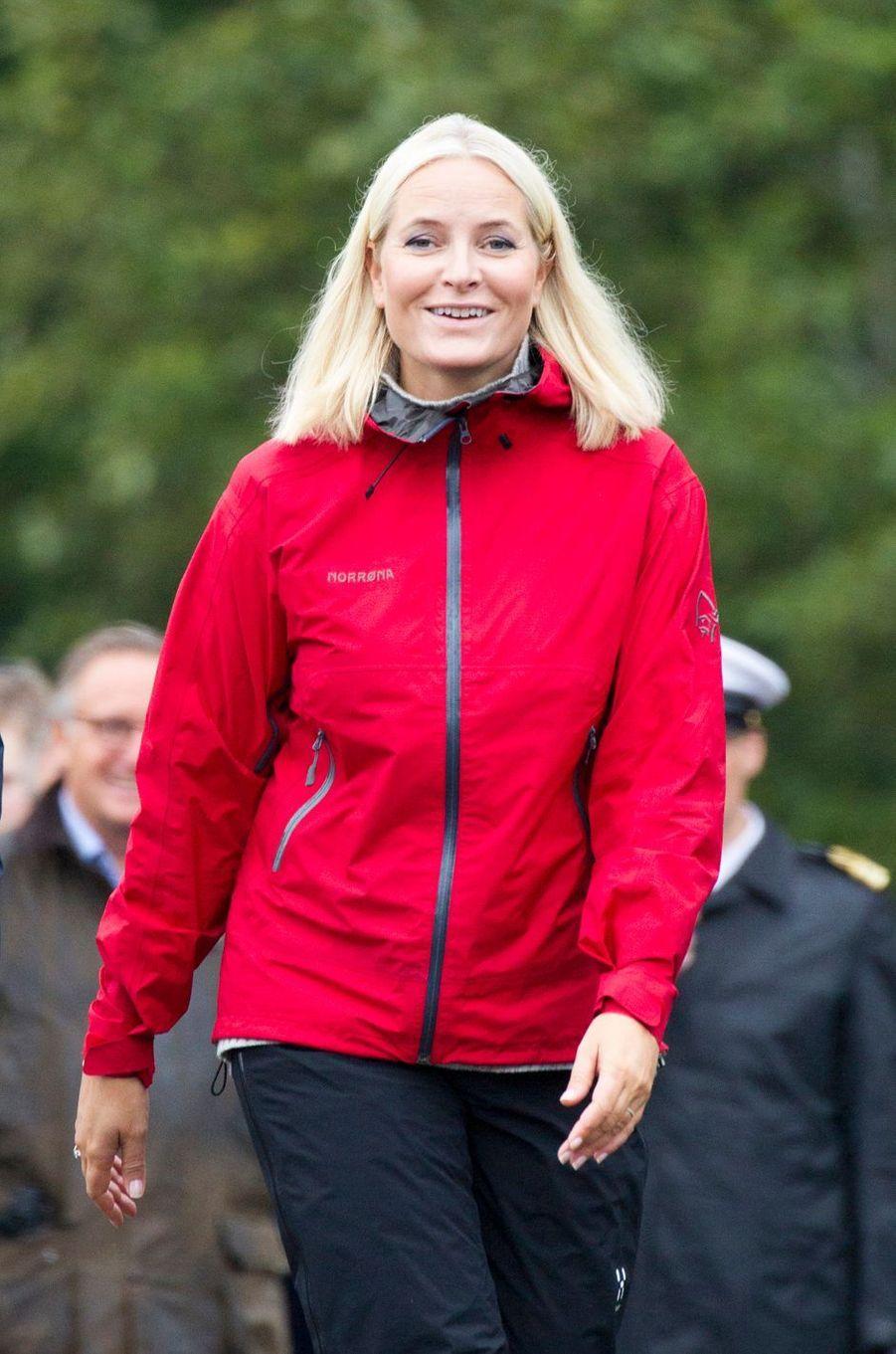 La princesse Mette-Marit de Norvège à Lardal, le 6 septembre 2018