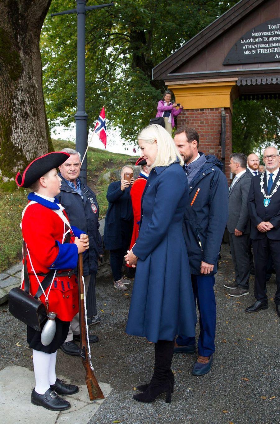 La princesse Mette-Marit et le prince Haakon de Norvège à Staven, le 6 septembre 2018