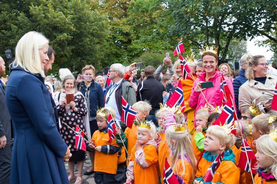 La princesse Mette-Marit de Norvège à Staven, le 6 septembre 2018
